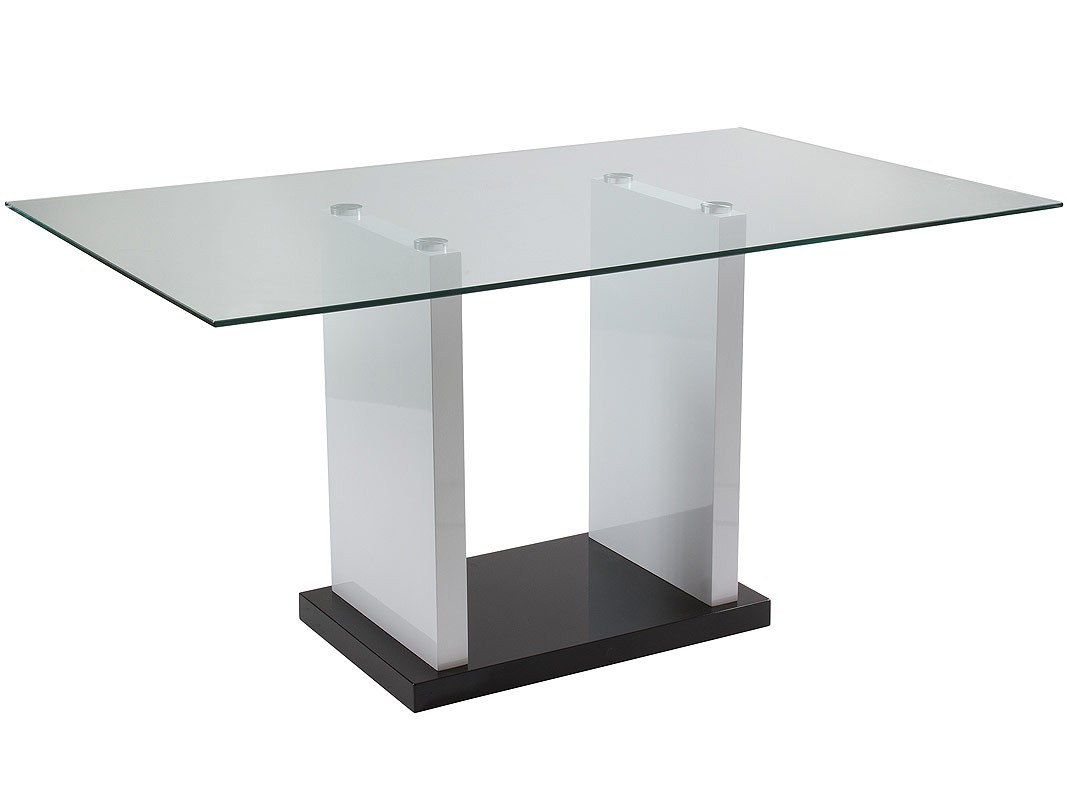 Mesa cristal comedor y sal n de 150 cm for Mesas de salon de cristal