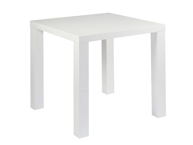 Mesa auxiliar cuadrada en dm blanco venta mesas auxiliares for Mesa cuadrada blanca
