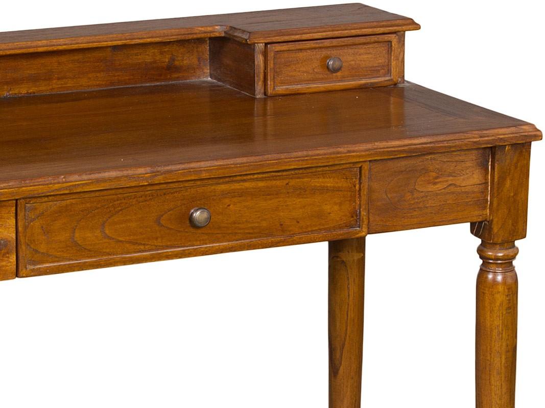 Mesa de despacho cl sica de madera de teca estilo provenzal - Mesas de despacho ...