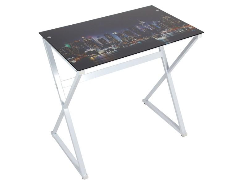 Escritorio peque o new york venta de escritorios online - Mesas escritorio de cristal ...
