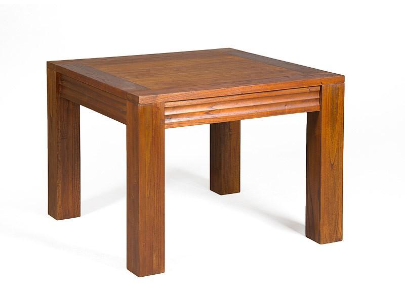 Mesita esquinera de madera de mindi colecci n oreg n for Mesa bar de madera