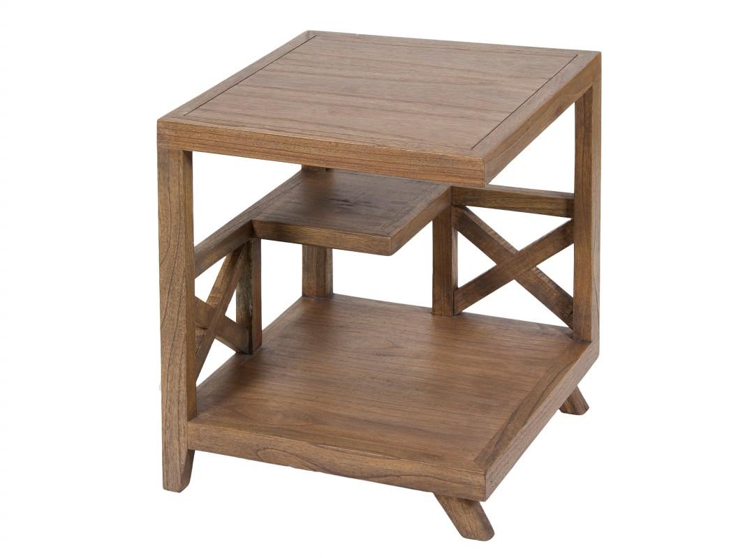 Mesa esquinera madera estilo nórdico Amara