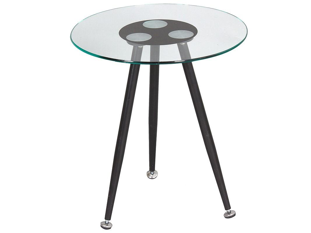 mesa esquinera de cristal y aluminio redonda