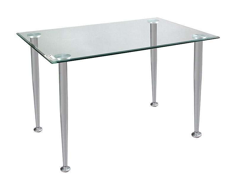 Mesa de estudio de estilo moderno en cristal y cromo for Mesa escritorio moderna