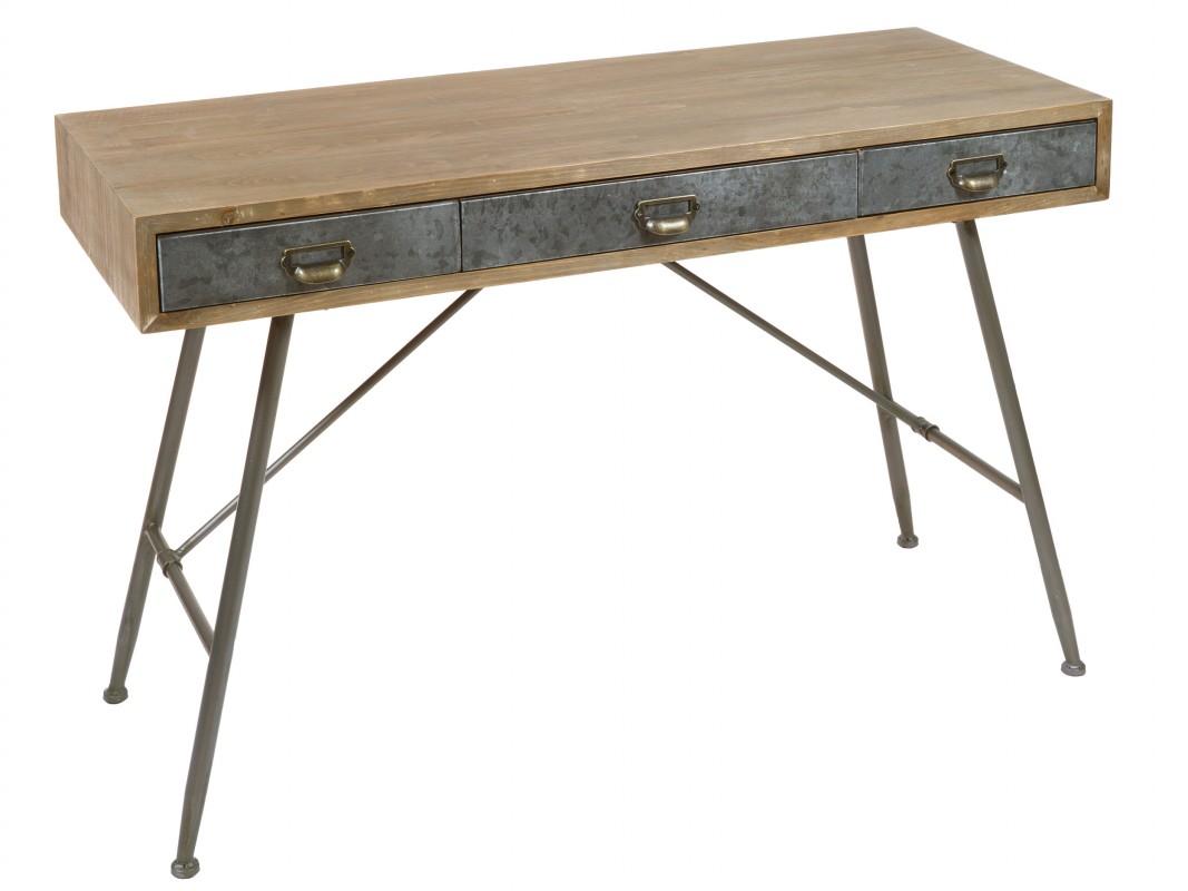 Mesas de madera y hierro gallery of mesas comedor quincho - Mesa de hierro ...