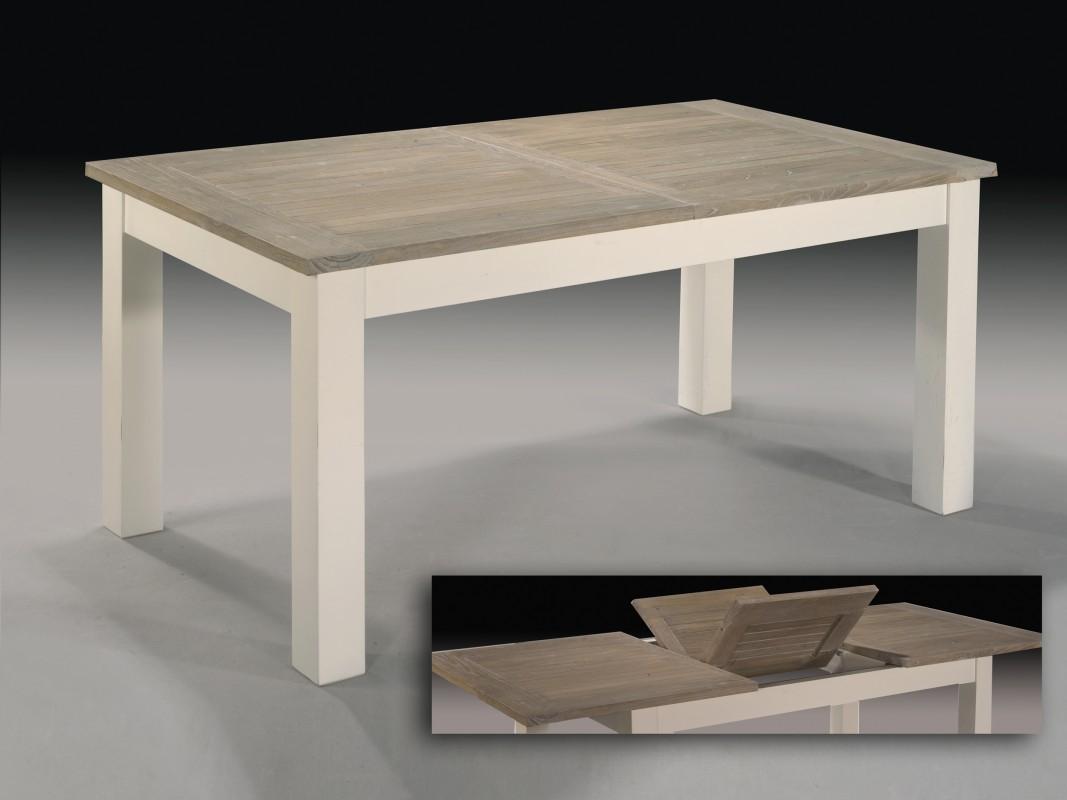 Mesa extensible de madera de teka para interior y exterior for Mesa de jardin extensible