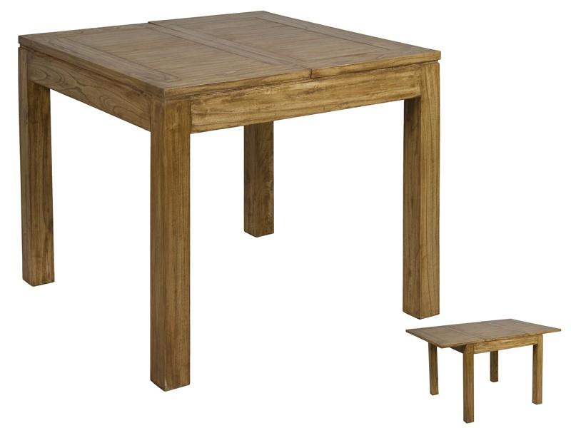 mesa cuadrada extensible de madera de acacia estilo r stico