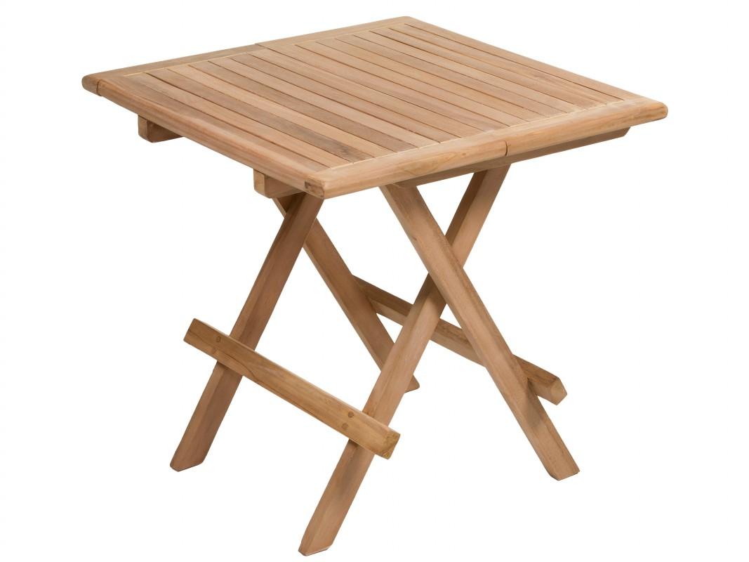 Mesa exterior plegable de madera de teca mesas de jard n for Mesas de jardin plegables