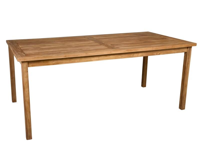 Mesa grande para jard n de madera de teka 180x90 cm for Mesas de comedor grandes de madera