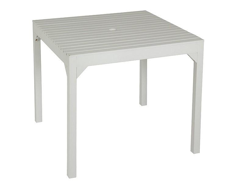 Mesa cuadrada blanca para sombrilla muebles de jard n for Mesa cuadrada blanca