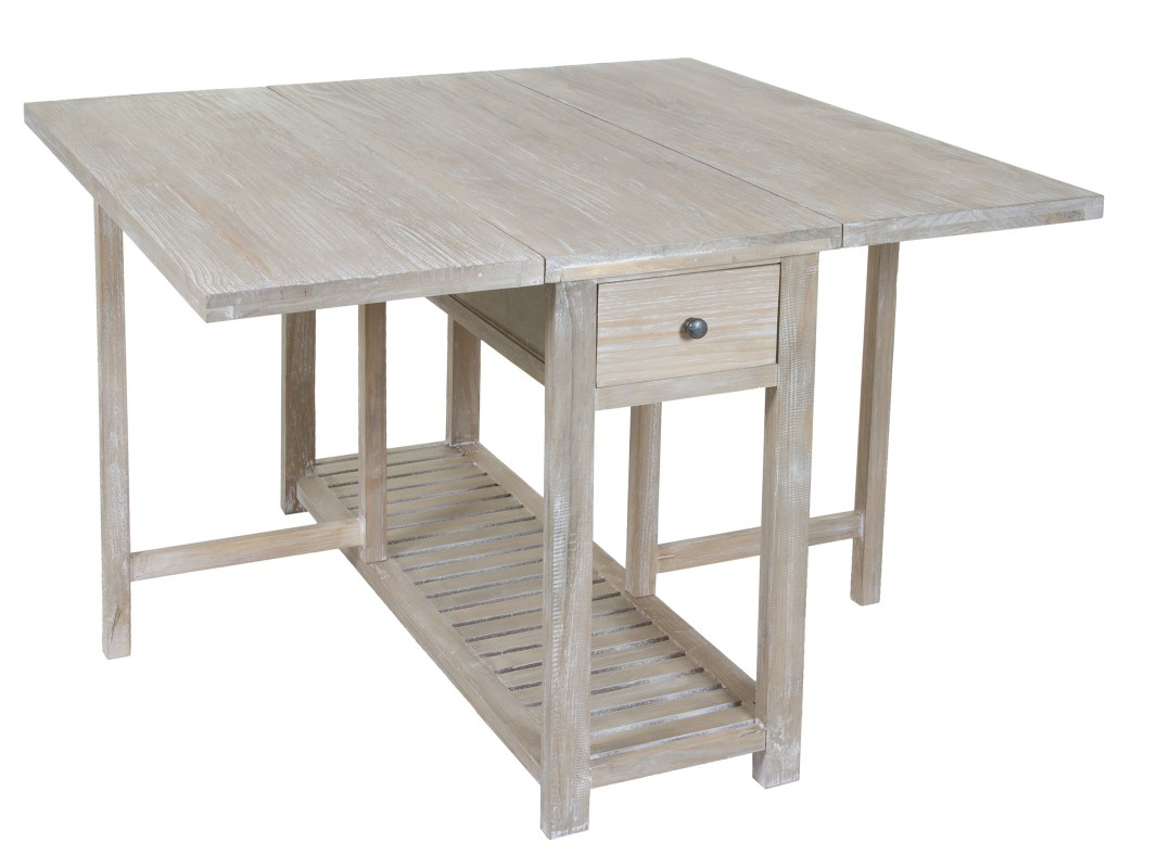 Mesa plegable vintage madera envejecida mesas libro online - Mesas de cocina plegable ...
