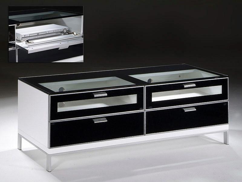 Mesa tv cristal madera y metal valencia de 120 cm for Mesa cristal 120