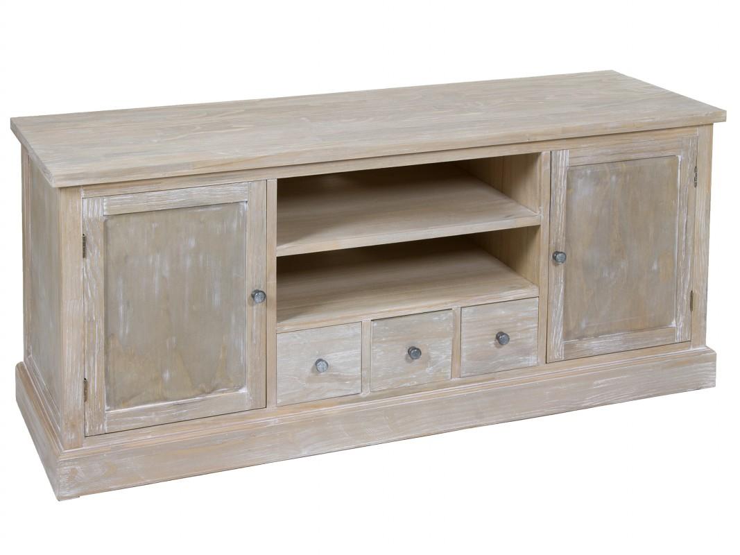 Mueble de tv vintage de madera mesas para televisi n for Muebles de madera para tv
