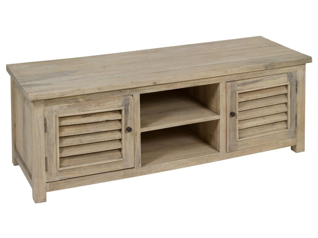 Mueble tv r stico de madera natural envejecida mesas tv - Mueble rustico para tv ...