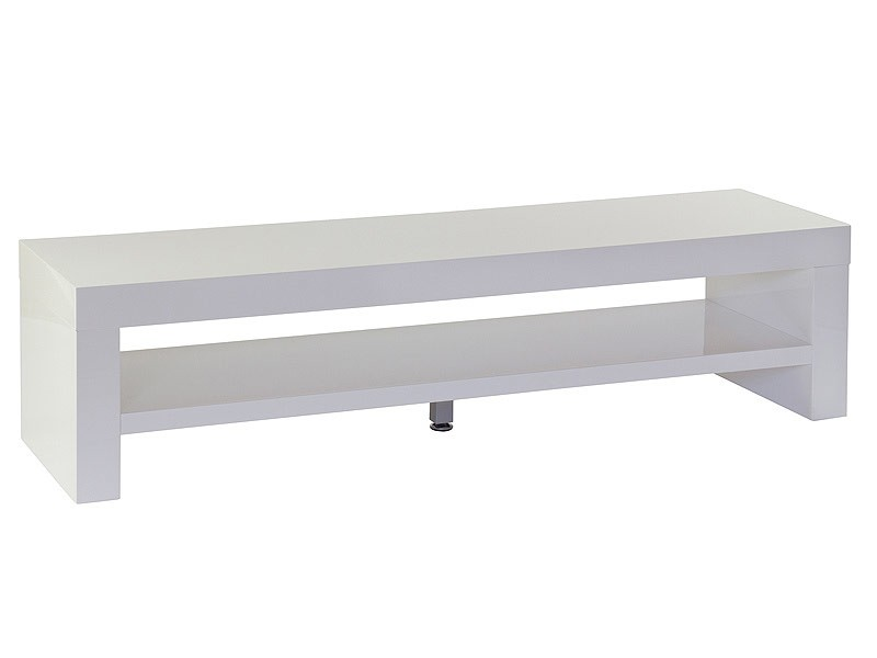 Mueble tv blanco minimalista y moderno con estante inferior - Mueble tv blanco ...