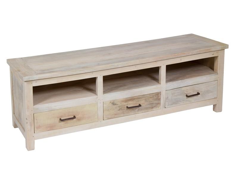 Mesa de television vintage de madera mueble tv online for Muebles auxiliares para television