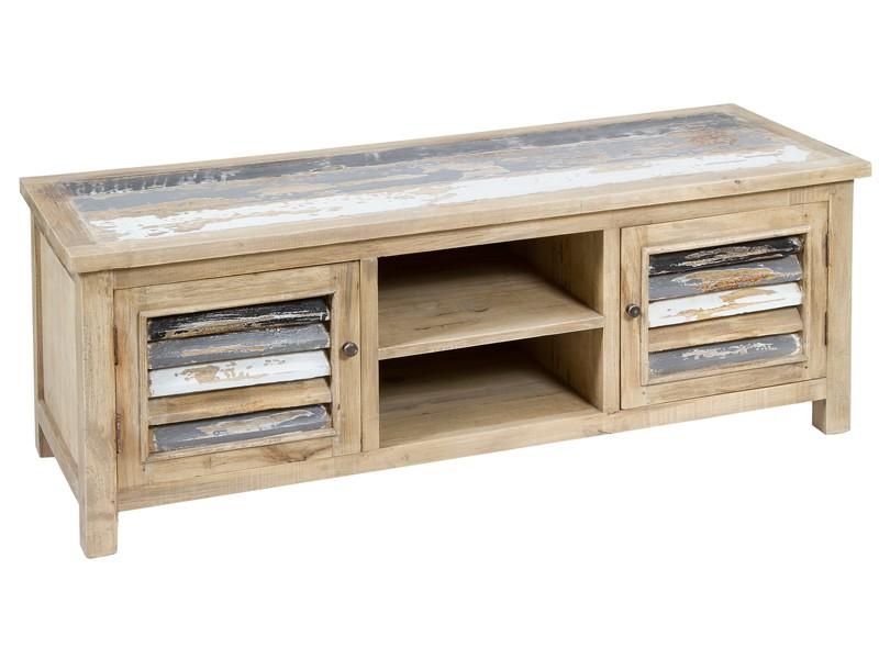 Mueble tv decapado venta mesas de televisi n online - Mueble blanco decapado ...