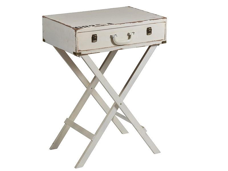 Mesita auxiliar forma de maleta con cajón - Muebles online