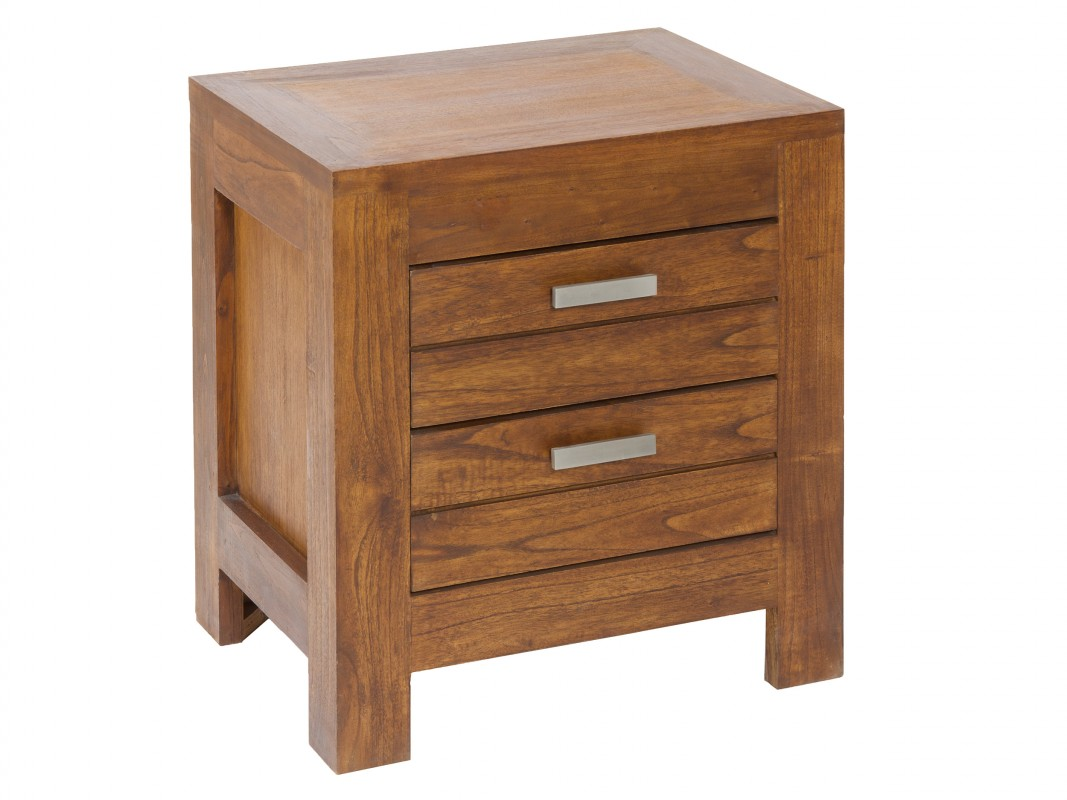 Mesa de dormitorio de madera estilo colonial mesitas noche - Mesita de noche madera ...