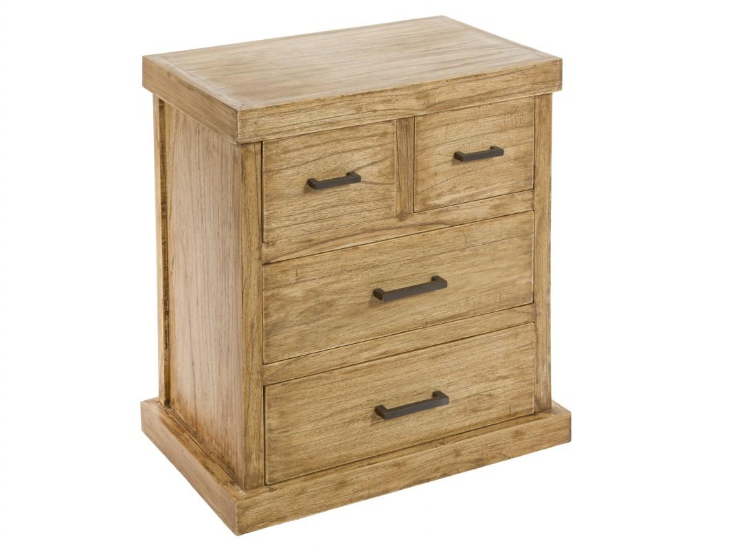 Mesita de noche madera natural envejecida mesillas online - Mesitas de noche de madera ...