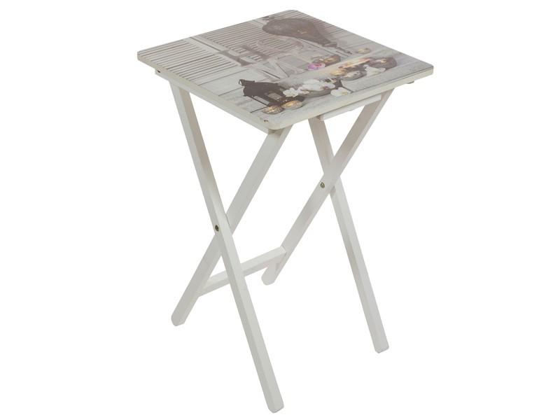 Mesita auxiliar plegable home mesas plegables online - Mesas pequenas plegables ...