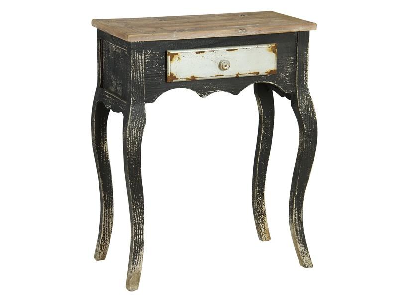 Mesita auxiliar vintage decapada mesas auxiliares online for Mesita de comedor