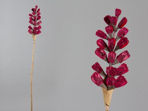 Rama flor seca frutos rojos Alfombra redonda morada