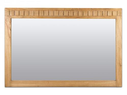 Espejo madera grande estilo r stico espejos decorativos for Espejos ovalados grandes