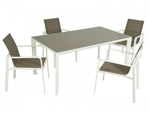 Conjunto mesa y 4 sillas de exterior estilo moderno for Conjunto mesa y sillas exterior