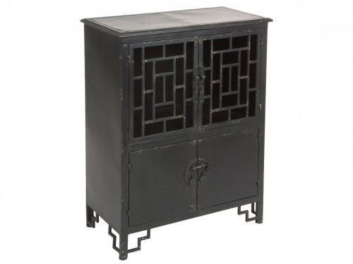Armario de hierro negro envejecido estilo industrial - Armarios de hierro ...