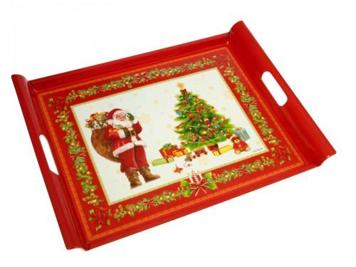 Bandeja de navidad rojo for Bandejas de navidad