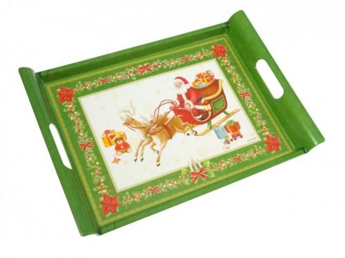 Bandeja de navidad verde for Bandejas de navidad