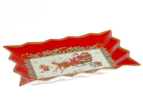 Bandeja para servir navidad roja for Bandejas de navidad