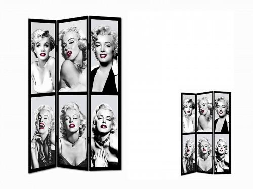 Cortinas De Baño Marilyn Monroe:Biombo fotos Marilyn Monroe – Separadores de ambiente online