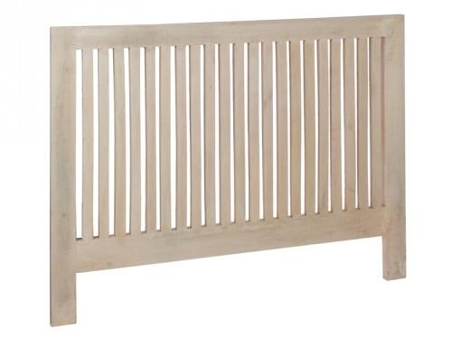 Cabecero vintage de madera envejecida cama de matrimonio for Cabeceros de cama de madera rusticos