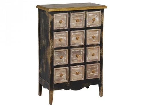 Cajonera r stica de madera decapada muebles online for Muebles tipo vintage