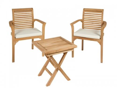 Mesa y sillas de madera para terraza muebles de jard n for Conjunto mesa y sillas terraza