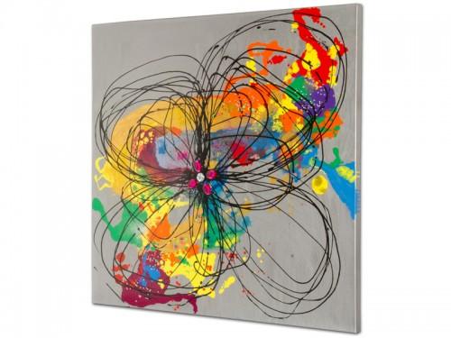 Cuadro leo abstracto multicolor cuadros modernos - Cuadros para principiantes ...