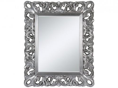 espejo barroco con marco plateado de estilo se orial