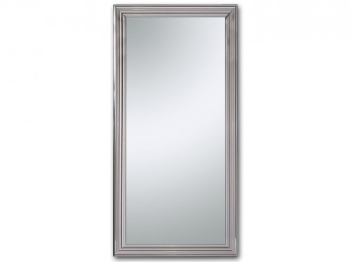 Espejo alto de cuerpo entero con marco de madera relieve for Espejo pared cuerpo entero