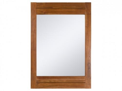 Espejo de pared 70 x 100 con marco de madera colonial for Marcos de madera para espejos grandes