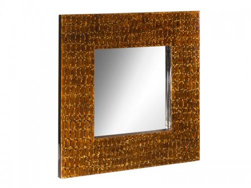 espejo cuadrado con marco de madera ancho bamb