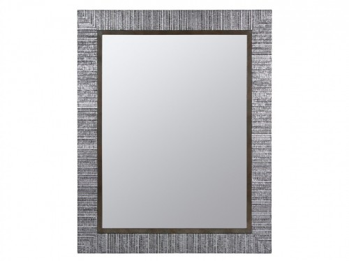 Espejo con marco lacado plata para decorar la pared for Espejos con marco color plata