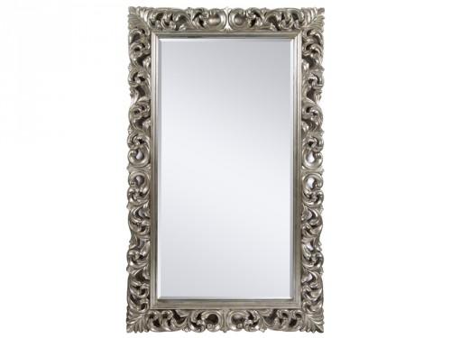 Espejo plata envejecida estilo barroco espejos online for Espejo madera envejecida