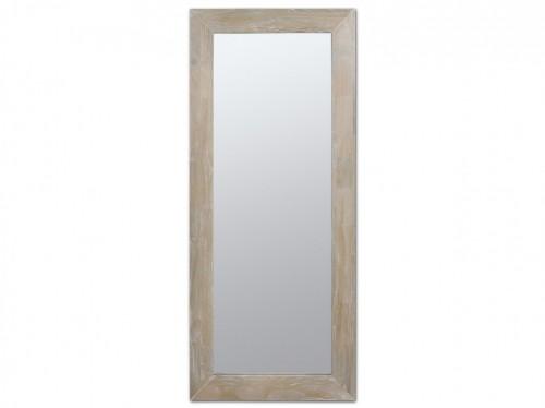 Espejo avejentado rectangular para pared de madera vintage for Espejo rectangular pared