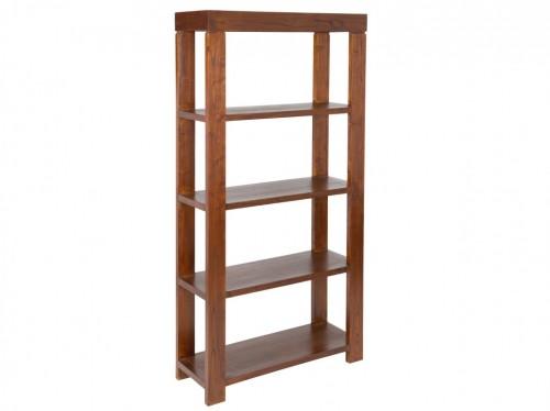 Estanter a librer a de 5 estantes madera de mindi nature for Librerias salon baratas