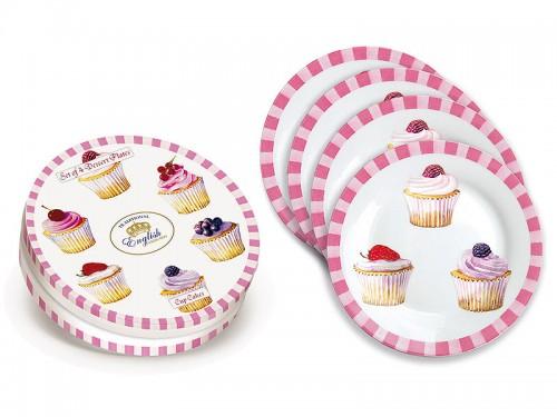 Juego 4 platos cupcakes de porcelana art culos de menaje for Articulos de menaje