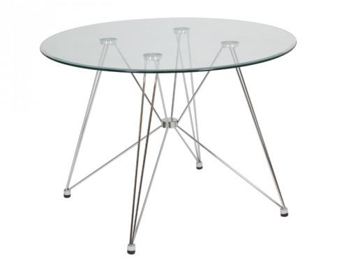 Mesa de cristal redonda venta de mesas auxiliares online for Mesa redonda cristal ikea