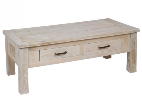 Mesa de centro vintage de madera envejecida for Mesa vintage madera