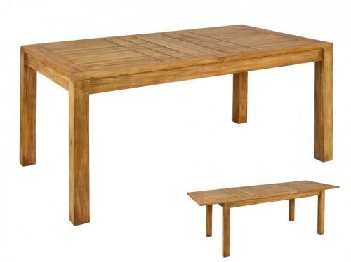 Mesa r stica extensible de madera mesa extensibles comedor - Mesas de comedor rusticas ...